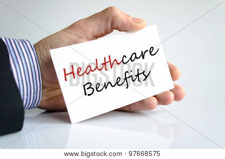Healthcare Benefits Text Concept