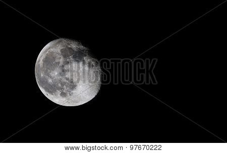 Moon near to its full size of 93.8% as seen from Bangalore, India on August 2nd 2015