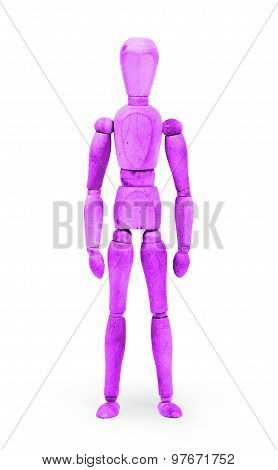 Wood Figure Mannequin With Bodypaint - Purple