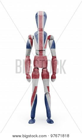 Wood Figure Mannequin With Flag Bodypaint - United Kingdom