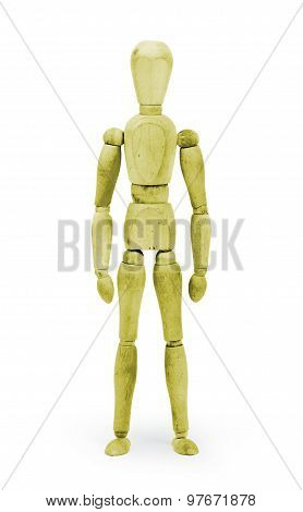 Wood Figure Mannequin With Bodypaint - Yellow