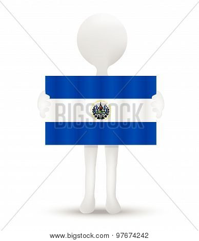 Flag Of Republic Of El Salvador