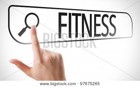 Fitness written in search bar on virtual screen