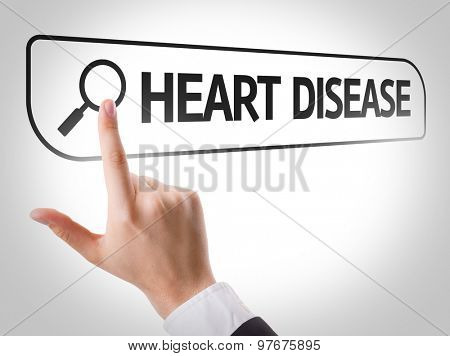 Heart Disease written in search bar on virtual screen