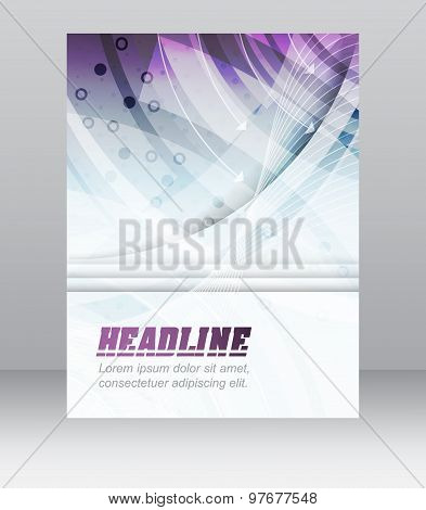 Business flyer template, brochure, cover design, folder or corporate banner