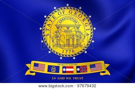 Flag Of Georgia (2001-2003), Usa.