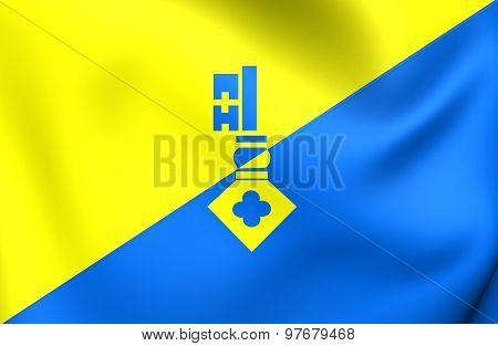 Flag Of Gilze En Rijen City, Netherlands.