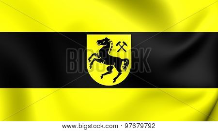 Flag Of Herne City, Germany.
