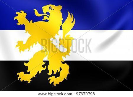 Flag Of Hilvarenbeek City, Netherlands.