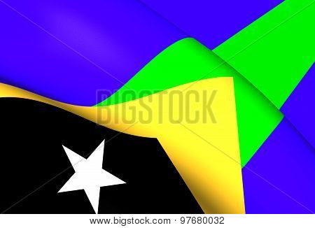 Flag Of Manatuto District, East Timor.