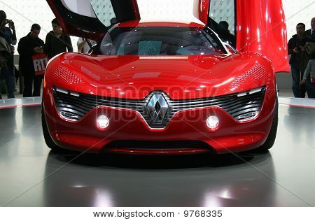 Renault Dezir Electric Car At Paris Motor Show