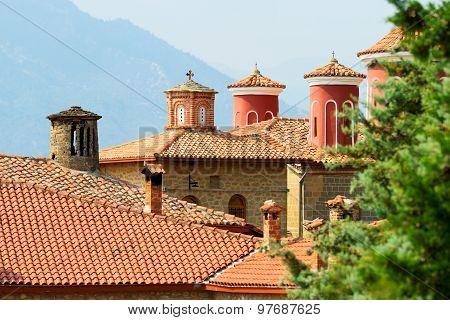Detail Of Meteora Clifftop Monasteries