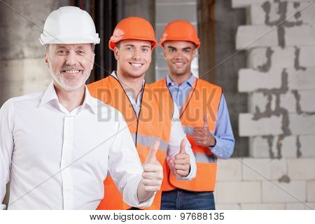 Successful builders are expressing their positive emotions