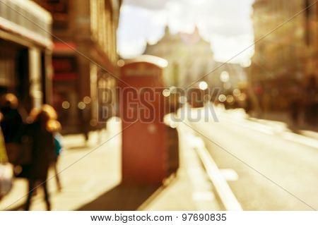 Bokeh Effect In Street Of London