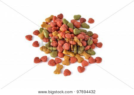 Pet Food On White Background.
