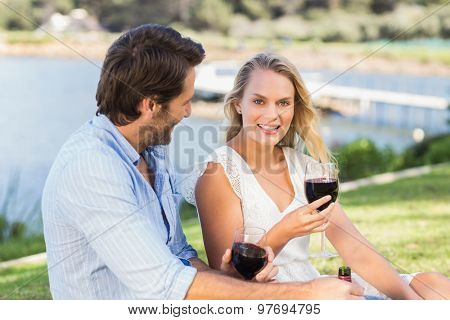 Portrait of a cute couple on date discussing together