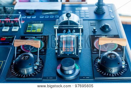 Azipod Controls On A Cruise Ship