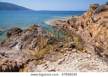 Coastal Landscape With Rocks And Sea Water