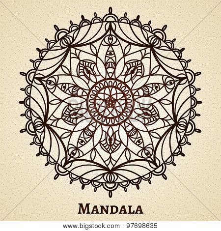 Yoga meditation mandala ornament