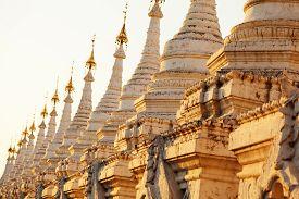 picture of slab  - Kuthodaw Pagoda is a Buddhist stupa located in Mandalay Burma  - JPG