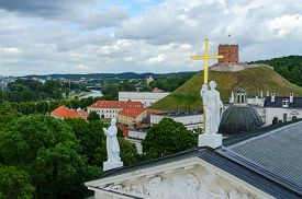 picture of stanislaus church  - Lithuania Vilnius the view from the observation deck of the bell tower at the Cathedral of St - JPG
