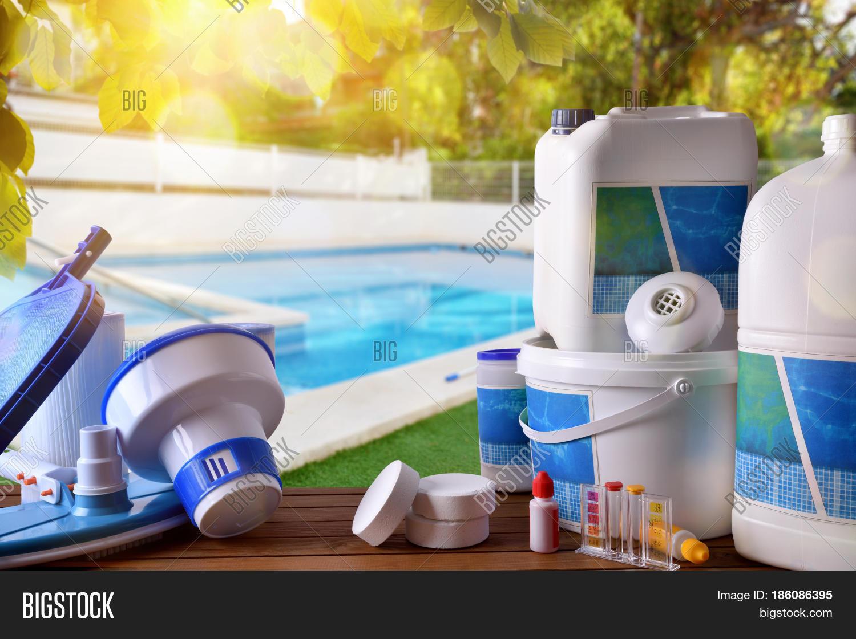 Swimming pool service equipment image photo bigstock for Swimming pool machine