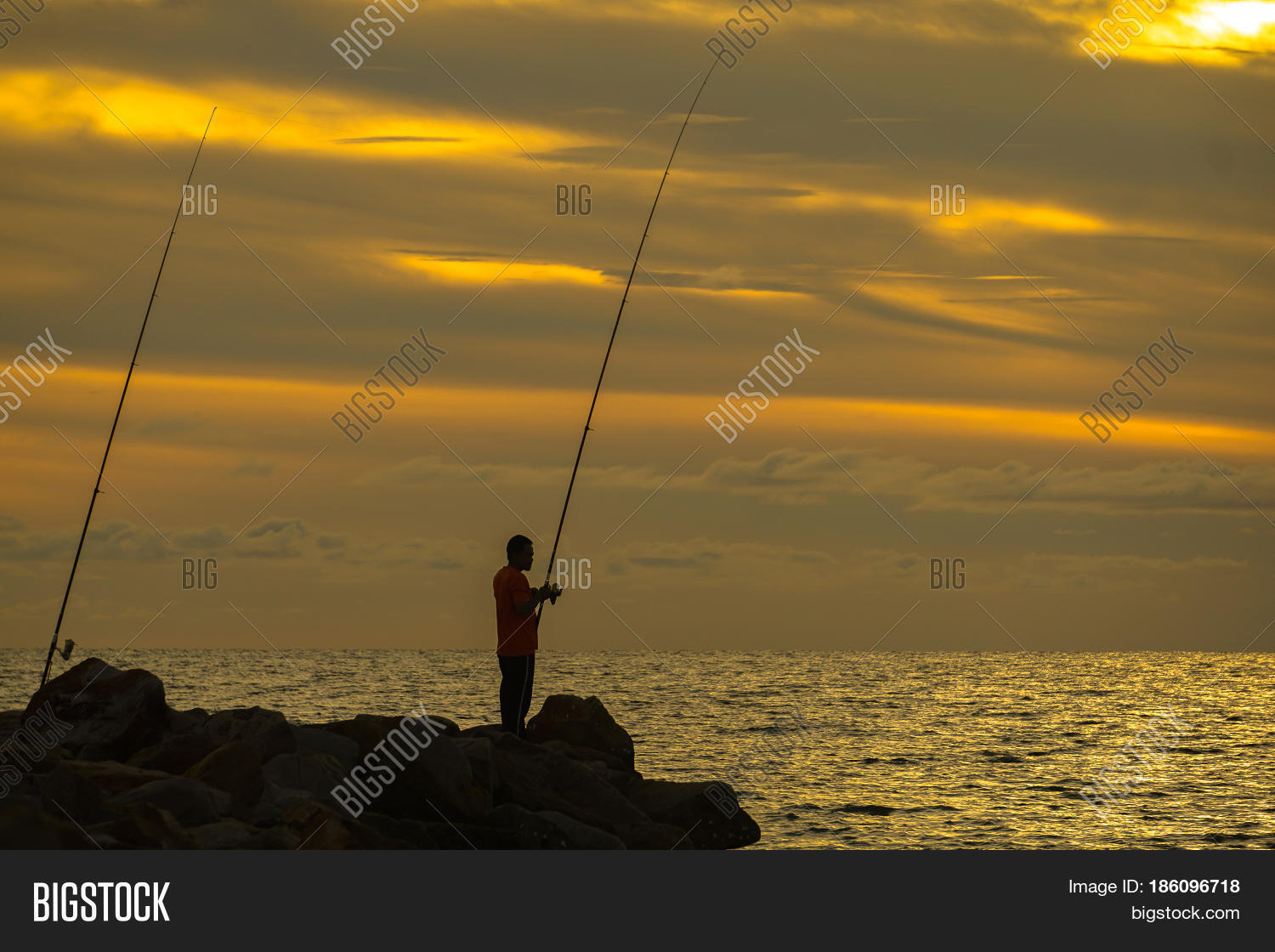 Silhouette people enjoying surf image photo bigstock for Surf fishing waders