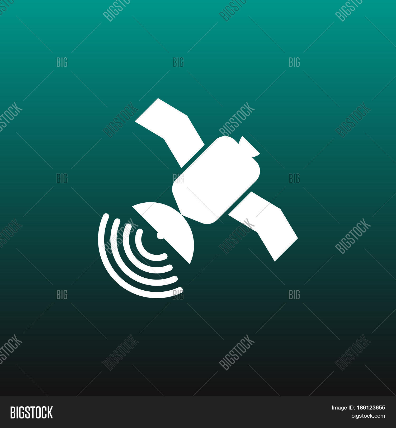 Satellite Vector Icon Isolated On Vector & Photo   Bigstock