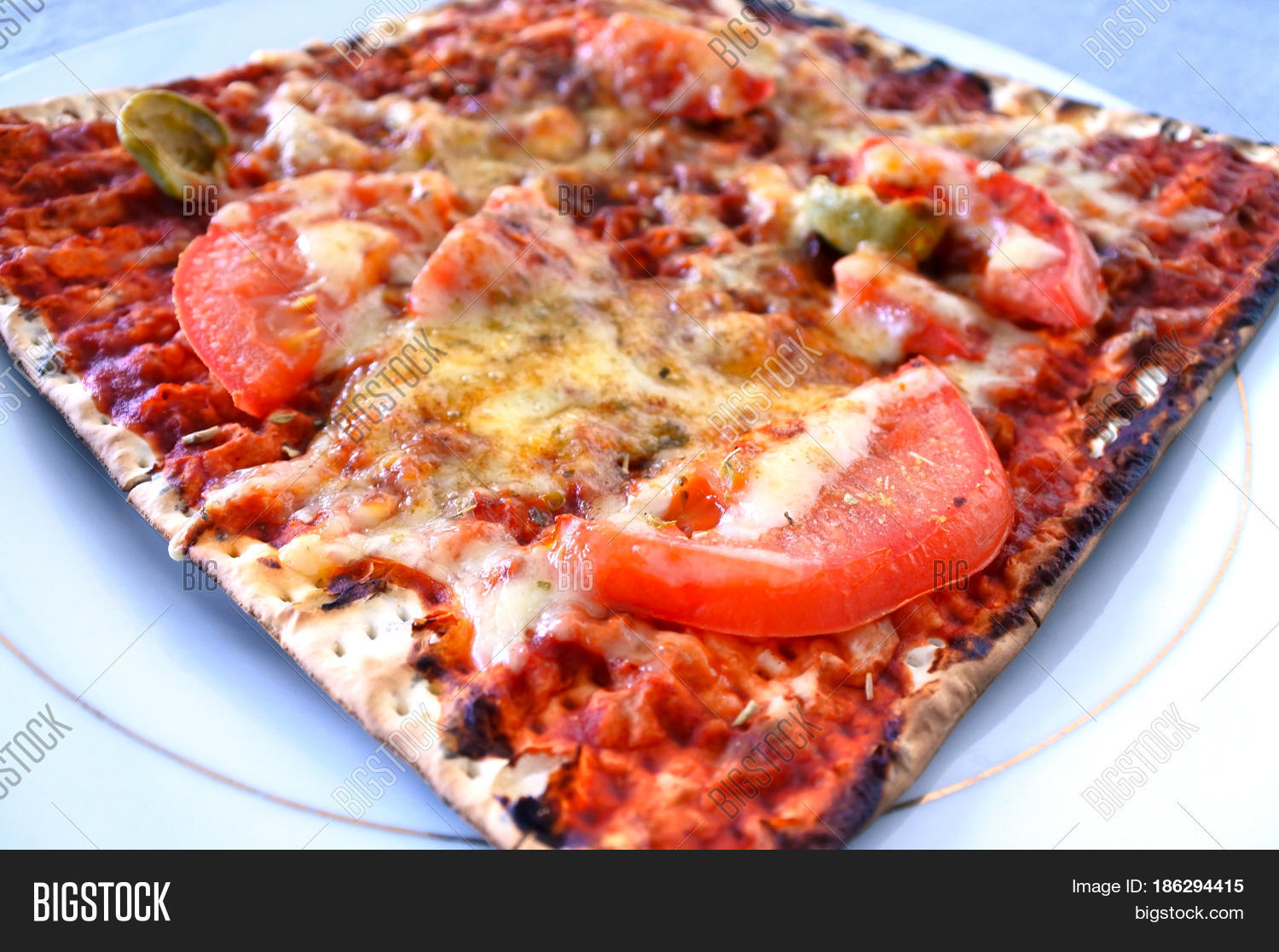 Matzo Pizza Food Jewish Holiday Image & Photo | Bigstock