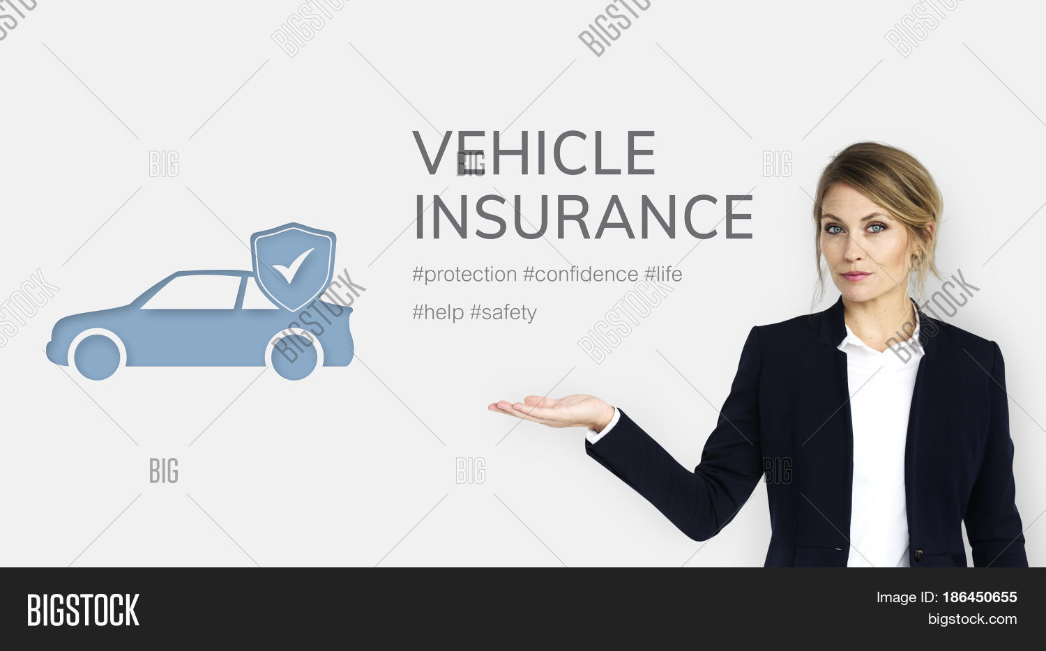 Car Insurance Coverage Accident Benefits Stock Photo