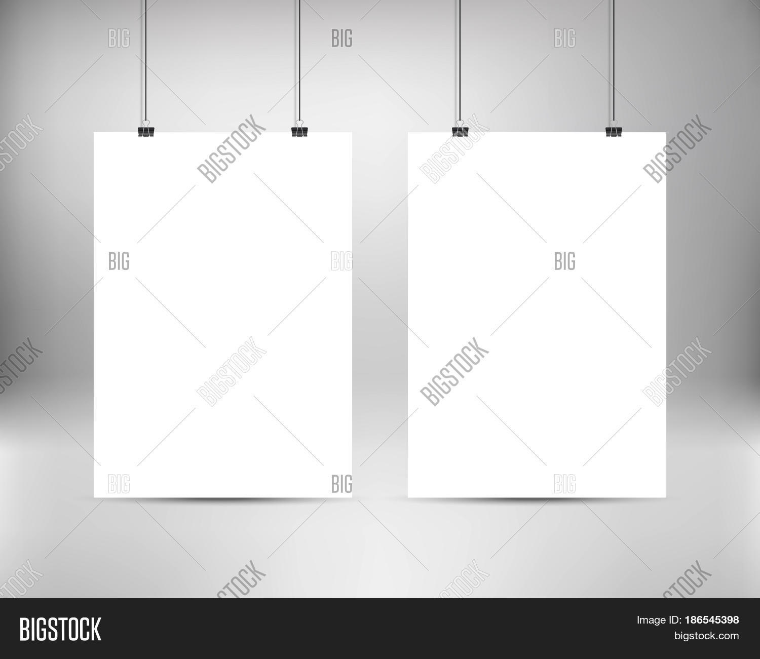 Blank poster templates free
