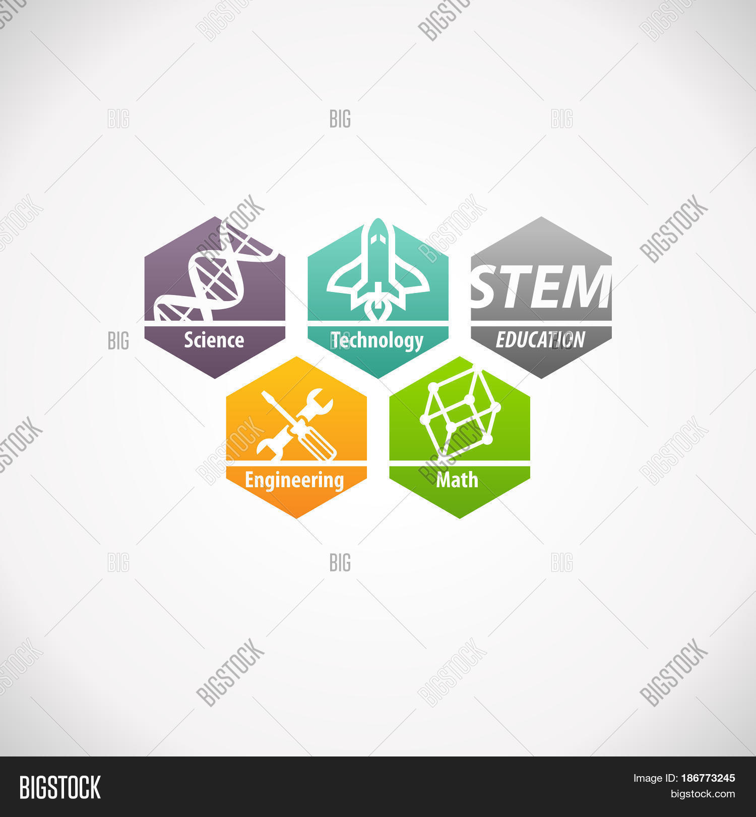 Science Technology Engineering Math: STEM Education Concept Logo. Image & Photo