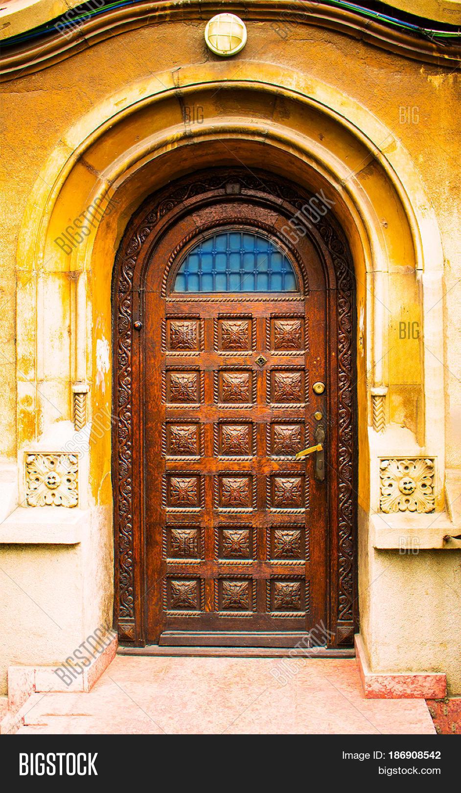 Beautiful wooden door image photo bigstock for Beautiful wooden doors picture collection
