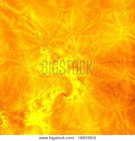 Yellow background illustration