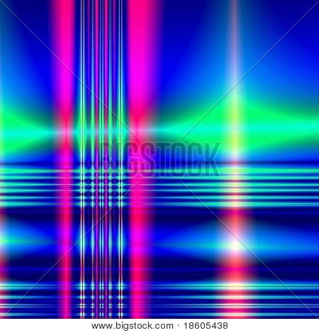 Fantasy laser beam on abstract background