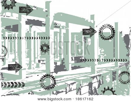 Abstract grunge industrial background