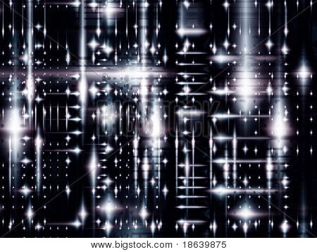 Fractal image of an abstract representation of future technology.