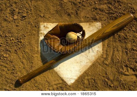 Vintage Baseball On Base