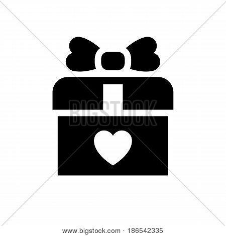 Present. Black icon isolated on white background