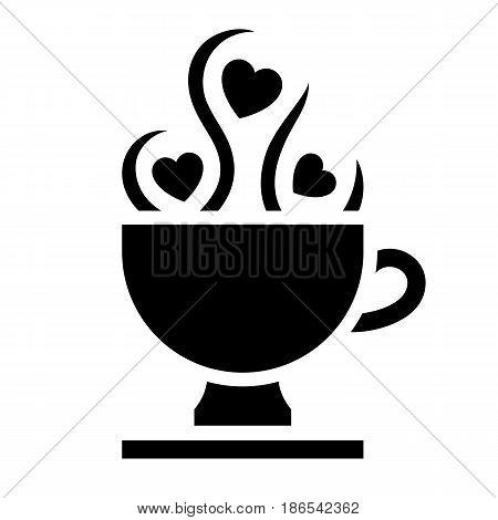 Aphrodisiac. Black icon isolated on white background