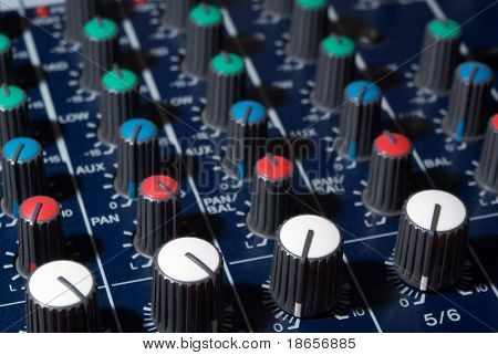 Mixing console. Electronic device for control audio.