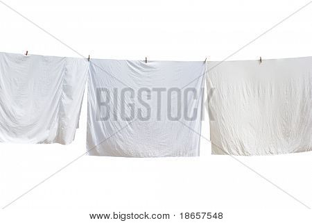 White laundry. Element of design.