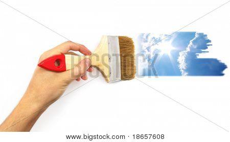 Hand paint the sky. Conceptual design.