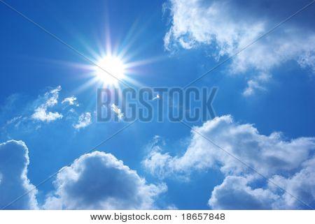 Deep blue sky. Element of design.