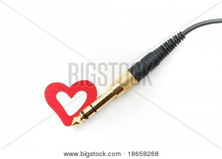 Isolated TRS connector and heart. Conceptual design.