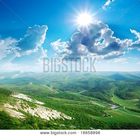 Beautiful landscape in mountain. Composition of nature