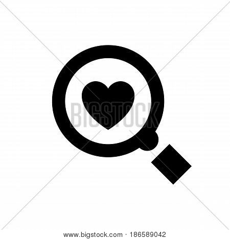 Magnifier. Black icon isolated on white background