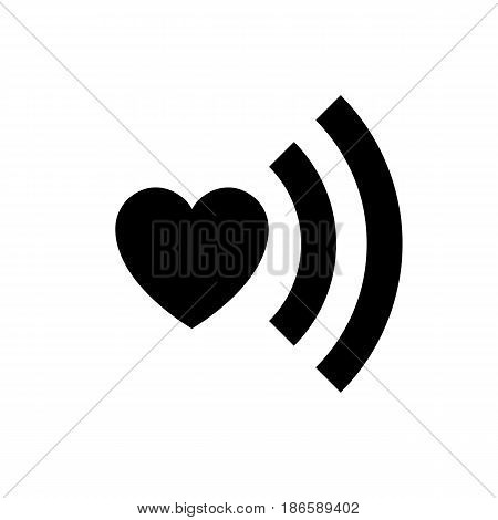 Love symbol. Black icon isolated on white background