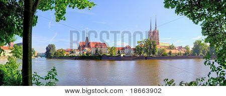 panoram of Ostrow Tumski