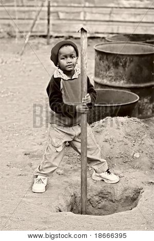 African kid, child labor, social issues, poverty